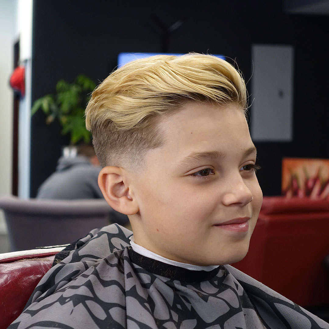 kid's haircut and style